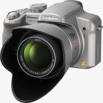 Panasonic's Lumix DMC-FZ18 digital camera. Courtesy of Panasonic, with modifications by Michael R. Tomkins.