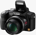 Panasonic's Lumix DMC-FZ28 digital camera. Courtesy of Panasonic, with modifications by Michael R. Tomkins