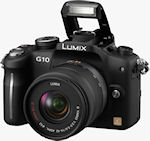 Panasonic's Lumix DMC-G10 digital camera. Photo provided by Panasonic Consumer Electronics Co.