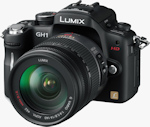 Panasonic's Lumix DMC-GH1 digital camera. Photo provided by Panasonic Consumer Electronics Co.