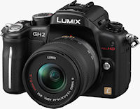 Panasonic's Lumix DMC-GH2 digital camera. Photo provided by Panasonic Consumer Electronics Co.