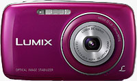 Panasonic's Lumix DMC-S3 digital camera. Photo provided by Panasonic Consumer Electronics Co.