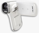 The Xacti DMX-CG100, white version. Photo provided by Sanyo Electric Co. Ltd.
