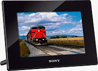 Sony's DPF-HD700 digital photo frame. Photo provided by Sony Electronics Inc.