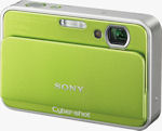 Sony's Cyber-shot DSC-T2 digital camera. Courtesy of Sony, with modifications by Michael R. Tomkins.