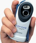 Sony's Cyber-shot DSC-U60 digital camera. Courtesy of Sony Corp., with modifications by Michael R. Tomkins.