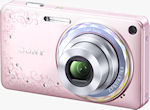 The DSC-W350D digital camera in Jewel Pink. Photo provided by Sony Marketing (Japan) Inc.