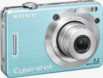 Sony's DSC-W55 digital camera. Courtesy of Sony, with modifications by Michael R. Tomkins.