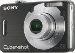 Sony's Cyber-shot DSC-W70 digital camera. Courtesy of Sony, with modifications by Michael R. Tomkins.