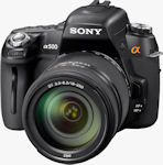 Sony's Alpha DSLR-A500 digital SLR. Photo provided by Sony Electronics Inc.