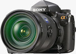 Sony's Alpha DSLR-A900 digital SLR. Courtesy of Sony, with modifications by Michael R. Tomkins.