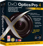 DxO's Optics Pro 4 Elite packaging. Courtesy of DxO Labs, with modifications by Michael R. Tomkins.