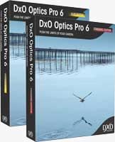 DxO Optics Pro 6 product packaging. Rendering provided by DxO Labs.