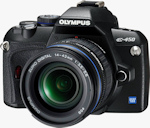 Olympus' E-450 digital SLR. Photo provided by Olympus Imaging America Inc.