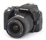 Olympus EVOLT E-500 digital SLR. Photo Copyright Imaging Resource, 2005.