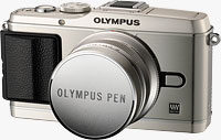 Olympus' PEN E-P3 compact system camera. Photo provided by Olympus Imaging America Inc.