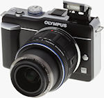 Olympus' E-PL1 digital camera. Copyright © 2010, Imaging Resource. All rights reserved.