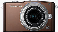 Olympus' PEN E-PM1 compact system camera. Photo provided by Olympus Imaging America Inc.