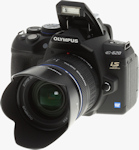 Olympus' E-620 digital SLR. Copyright © 2009, Imaging Resource. All rights reserved.