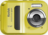 Kodak's EasyShare Sport digital camera. Rendering provided by Eastman Kodak Co.