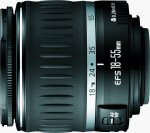 Canon's EF-S 18-55mm f/3.5-5.6 zoom lens. Courtesy of Canon, with modifications by Michael R. Tomkins.