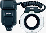 Sigma's Electronic Flash Macro EM-140DG for Sony and Pentax. Courtesy of Sigma, with modifications by Michael R. Tomkins.