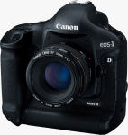 Canon's EOS-1D Mark III digital SLR. Courtesy of Canon, with modifications by Michael R. Tomkins.