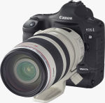 Canon's EOS-1D Mark II N digital SLR. Courtesy of Canon, with modifications by Michael R. Tomkins.
