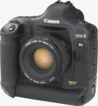 Canon's EOS-1Ds Mark II digital SLR. Courtesy of Canon, with modifications by Michael R. Tomkins.