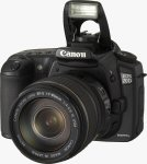 Canon's EOS-20D digital SLR. Courtesy of Canon, with modifications by Michael R. Tomkins.