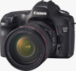 Canon's EOS 5D digital SLR. Courtesy of Canon, with modifications by Michael R. Tomkins.