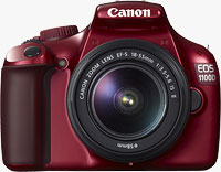 Canon Australia's limited edition red EOS 1100D digital SLR. Photo provided by Canon Australia Pty Ltd.