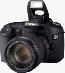 Canon's EOS 30D digital SLR. Courtesy of Canon, with modifications by Michael R. Tomkins.