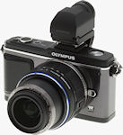 Olympus' E-P2 digital camera. Copyright � 2009, Imaging Resource.