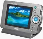 Epson's P-1000 photo viewer. Courtesy of Epson, with modifications by Michael R. Tomkins.