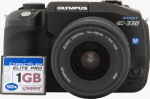 Olympus' EVOLT E330 digital camera. Copyright © 2006, The Imaging Resource. All rights reserved.
