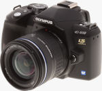 Olympus' EVOLT E-510 digital SLR. Copyright (c) 2007, The Imaging Resource. All rights reserved.
