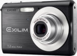 Casio's EXILIM ZOOM EX-Z70 digital camera. Courtesy of Casio, with modifications by Michael R. Tomkins.