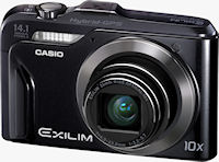 Casio's EXILIM Hi-Zoom EX-H20G digital camera. Photo provided by Casio America, Inc.