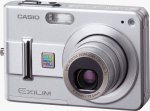 Casio's EXILIM ZOOM EX-Z57 digital camera. Courtesy of Casio, with modifications by Michael R. Tomkins.