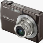 Casio's EXILIM ZOOM EX-Z700 digital camera. Courtesy of Casio, with modifications by Michael R. Tomkins.