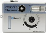 Concord's Eye-Q Go Wireless digital camera. Courtesy of Concord Camera Corp., with modifications by Michael R. Tomkins.