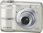 Olympus' FE-270 digital camera. Courtesy of Olympus, with modifications by Michael R. Tomkins.