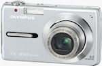 Olympus' FE-350 digital camera. Courtesy of Olympus, with modifications by Michael R. Tomkins.