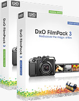 DxO's FilmPack 3, simulating an Ilford black-and-white film. Screenshot provided by DxO Labs.