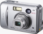Fujifilm's FinePix A350 digital camera. Courtesy of Fujifilm, with modifications by Michael R. Tomkins.