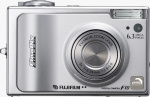 Fujifilm's FinePix F10 digital camera. Courtesy of Fujifilm, with modifications by Michael R. Tomkins.