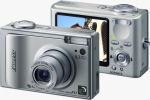Fujifilm's FinePix F11 Zoom digital camera. Courtesy of Fujifilm, with modifications by Michael R. Tomkins.