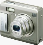 Fujifilm's FinePix F450 digital camera. Courtesy of Fujifilm, with modifications by Michael R. Tomkins.