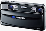 Fujifilm's FinePix REAL 3D W1 digital camera. Photo provided by Fujifilm Europe.